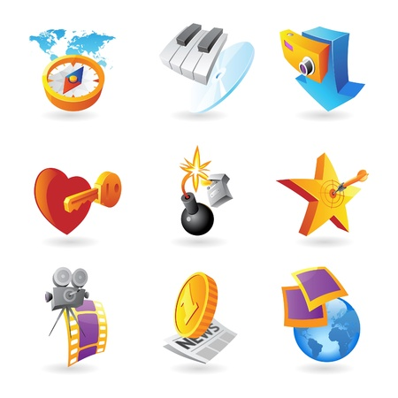 love target: Icons for leisure, travel, sport and arts  Vector illustration  Illustration