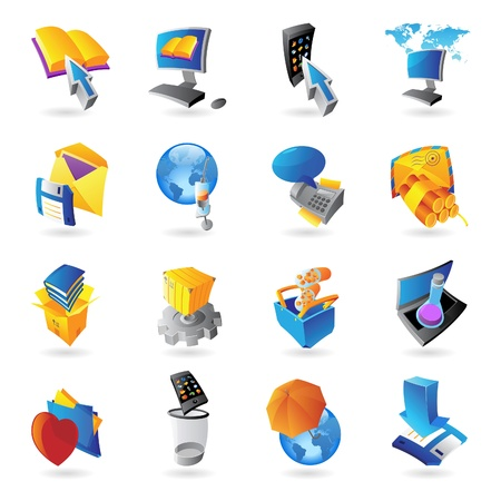 electronic book: Icons for technology and computer interface  Vector illustration