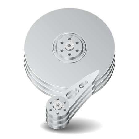 disco duro: Icono de disco duro. Fondo blanco. Vector guardado como EPS-10, el archivo contiene objetos con transparencia.