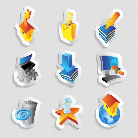 Icons for industry, energy and ecology. Vector illustration. Stock Vector - 15858501