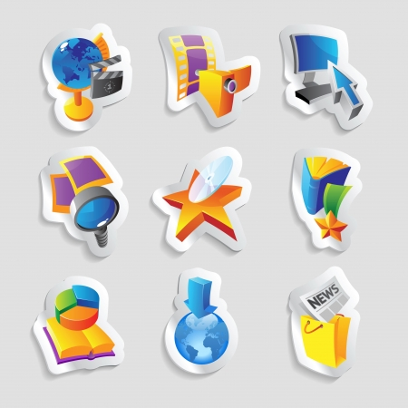 Icons for media and entertainment. Vector illustration. Stock Vector - 15858498