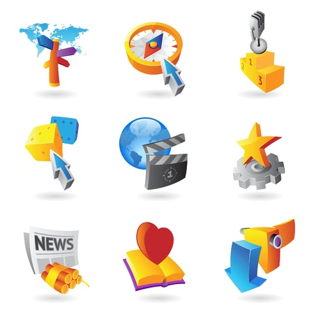 Icons for leisure, travel, sport and arts   illustration Stock Vector - 17970290
