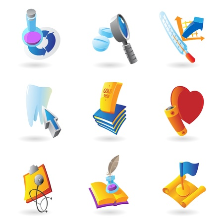 Icons for science, education and medicine   illustration Stock Vector - 17970312