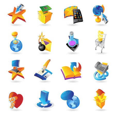Icons for technology and computer interface   illustration Stock Vector - 17970322