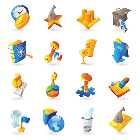 scroll work: Icons for business and finance  Vector illustration  Illustration