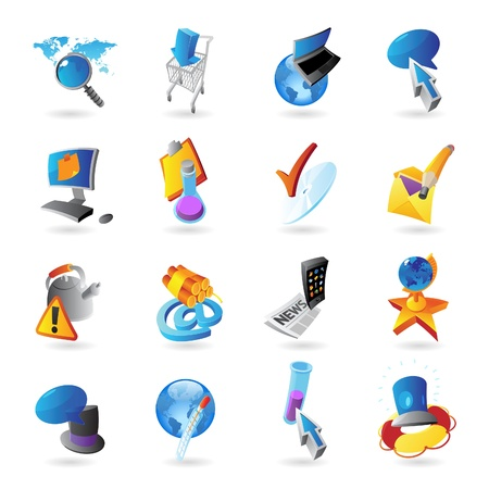 Icons for technology and computer interface  Vector illustration  Stock Vector - 18422232