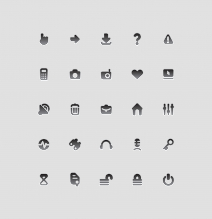 Interface icons for computer programs and web-design  Vector illustration  Vector