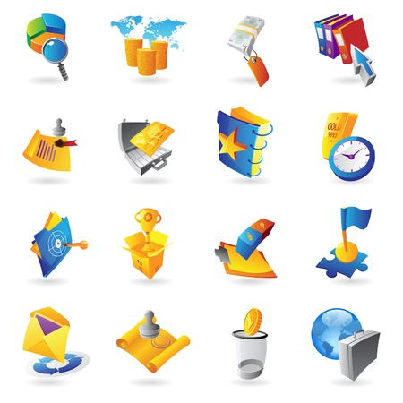 business case: Icons for business and finance  Vector illustration  Illustration