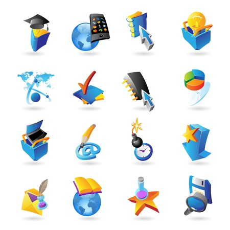 Icons for technology and computer interface  Vector illustration Stock Vector - 18873495