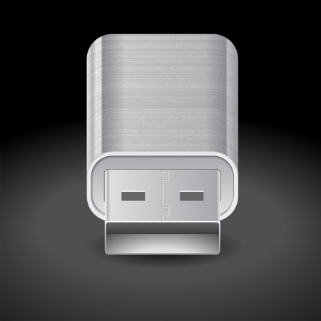 flash drive: Icon for flash drive  Dark background   Illustration