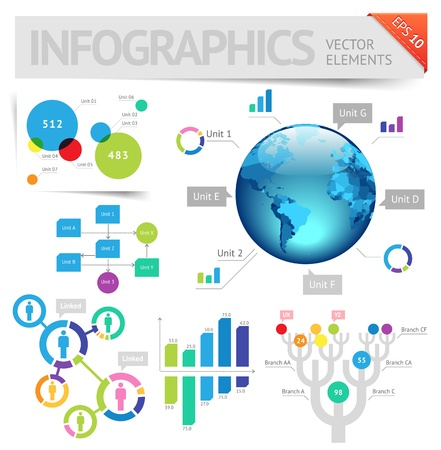 Info graphic design elements. Illustration