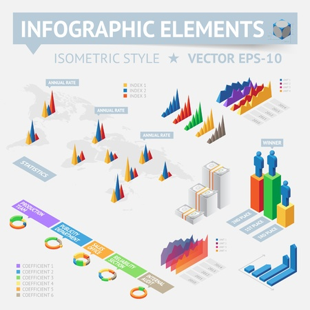 Info graphic design elements. Vector