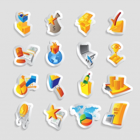 Icons for business and retail commerce. Vector illustration. Vector