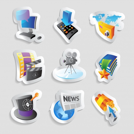 Icons for media and entertainment. Vector illustration. Stock Vector - 18873548