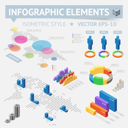 Infographic design elements, file contains objects with transparency  shadows etc    Vector
