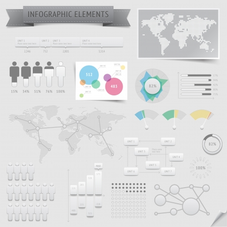 Infographic design elements  , file contains objects with transparency  shadows etc    Vector