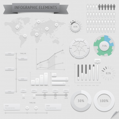 Infographic design elements file contains objects with transparency  shadows etc    Vector
