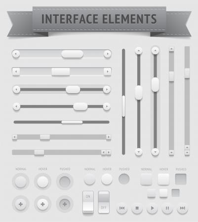 Elemente der Benutzeroberfläche, enthält Datei-Objekte mit Transparenz Schatten etc