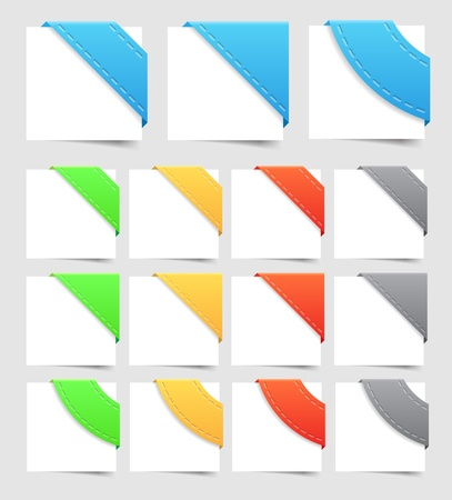corner ribbon: Design elements  corners  Vector saved as EPS-10, file contains objects with transparency  shadow, seam