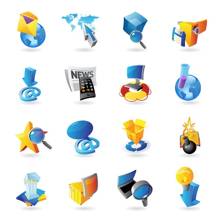 Icons for technology and computer interface  Vector illustration Stock Vector - 19022072