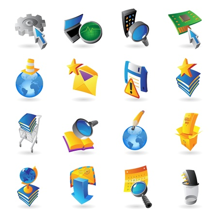 Icons for technology and computer interface  Vector illustration Stock Vector - 19022071