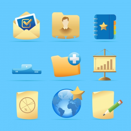 Icons for business metaphors and symbols  Vector illustration  Vector