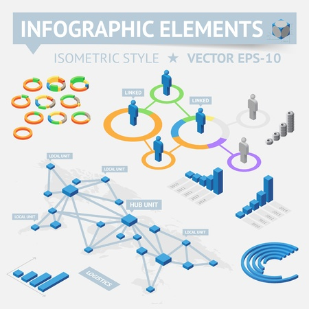 connecting: Infographic design elements. Vector saved as EPS-10, file contains objects with transparency (shadows etc.)