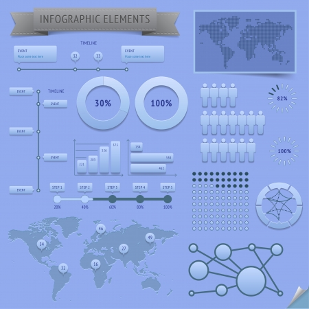Infographic design elements. Vector saved as EPS-10, file contains objects with transparency (shadows etc.)  Vector