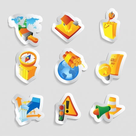 Icons for industry. Vector illustration. Stock Vector - 19021992