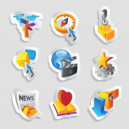 Icons for leisure, travel, sport and arts. Vector illustration. Stock Vector - 19021987
