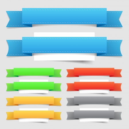 Design elements  banners  Vector saved as EPS-10, file contains objects with transparency  shadow, seam    Vector