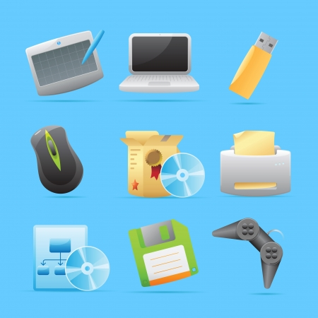 Icons for computer  Vector illustration  Illustration