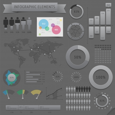 Infographic design elements  Vector saved as EPS-10, file contains objects with transparency  shadows etc    Vector