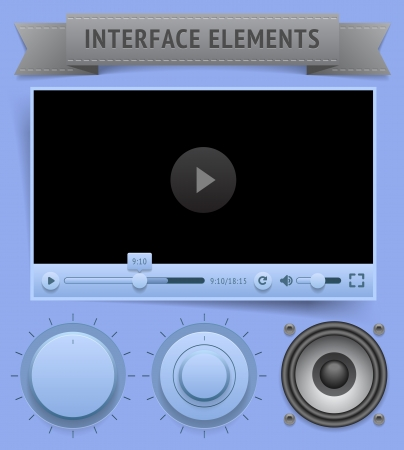User interface elements. Vector saved as EPS-10, file contains objects with transparency (shadows etc.) Stock Vector - 19601854