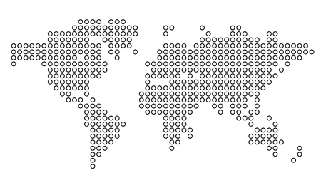 dotted world map: Dotted world map. Vector illustration. Illustration