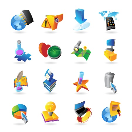Icons for technology and computer interface  Vector illustration Stock Vector - 19883691