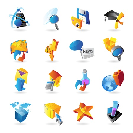 Icons for technology and computer interface  Vector illustration  Stock Vector - 19883690