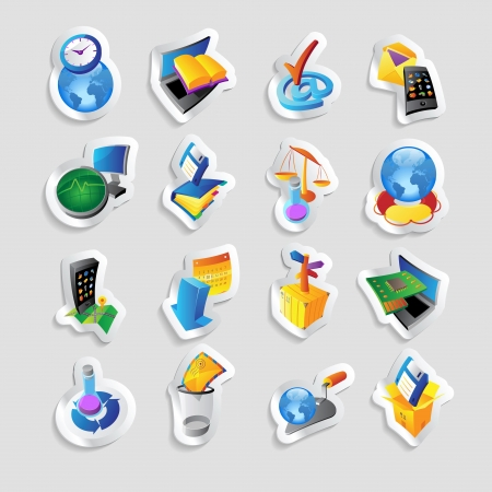 Icons for technology and computer interface. Vector illustration. Stock Vector - 19883732