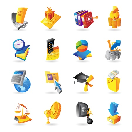 dossier: Icons for business and finance  illustration  Illustration
