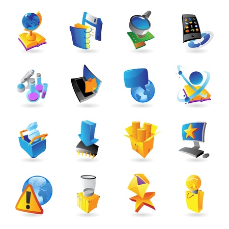 Icons for technology and computer interface illustration Stock Vector - 20396657
