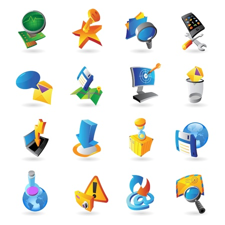 Icons for technology and computer interface illustration Stock Vector - 20334881