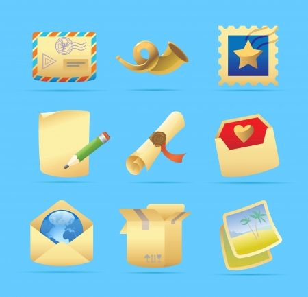 Icons for postal services  illustration