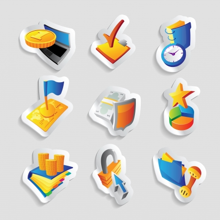 phone time: Icons for business and finance illustration