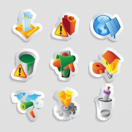 Icons for industry illustration  Stock Vector - 20334888