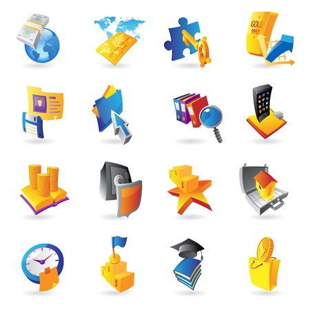 Icons for business and finance  Vector illustration  Vector