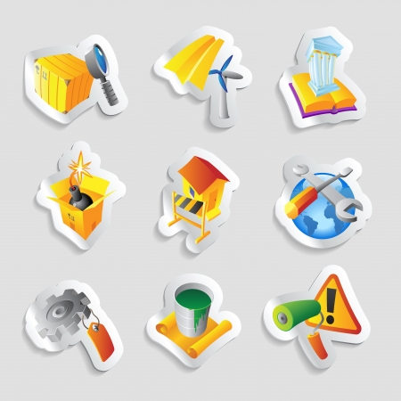 Icons for industry  Vector illustration  Vector