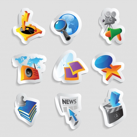 Icons for media and entertainment  Vector illustration Stock Vector - 21953242