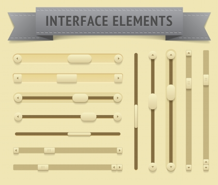 scrollbar: User interface elements  Vector saved as EPS-10, file contains objects with transparency  shadows etc    Illustration