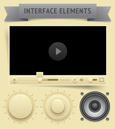 saved: User interface elements  Vector saved as EPS-10, file contains objects with transparency  shadows etc    Illustration
