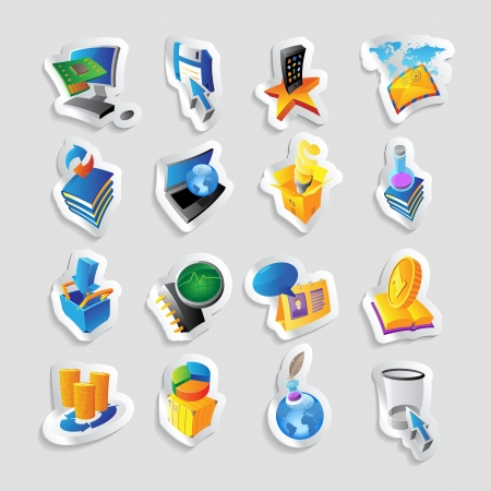 Icons for technology and computer interface. Vector illustration. Vector